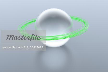 Green planetary rings