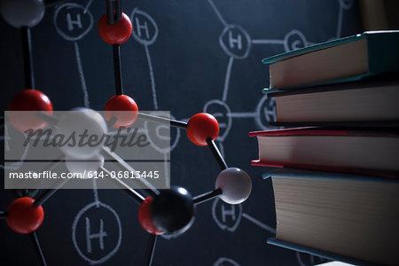 Molecular model and books