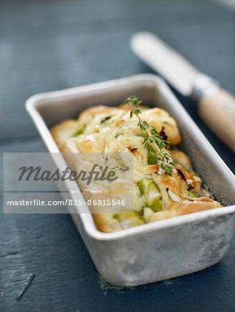 Zucchini and fava bean small savoury cake
