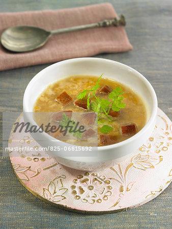 Seitan,lentil and cumin soup