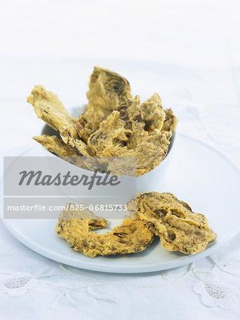 Artichoke crisps with basil and oregano