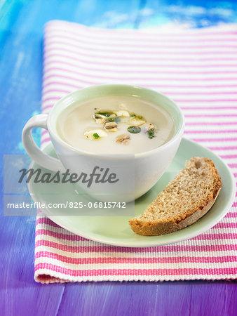 Cream of mushroom soup made with soya milk