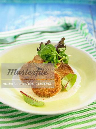 Potato croquettes with almond sauce