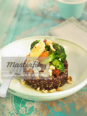 Quinoa,broccoli,cauliflower and almond Timbale
