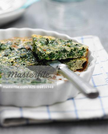 Spinach and tofu savoury tart