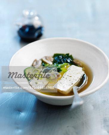 Broth with tofu