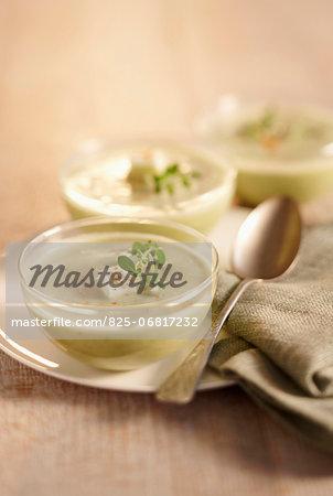 Cream of zucchini soup with feta