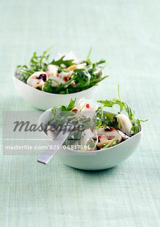 Rocket lettuce,mushroom ,parmesan and pine nut salads