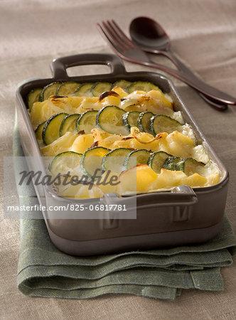 Potato and zucchini bake