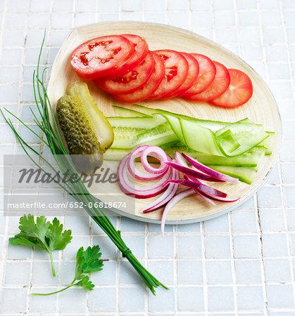 Slicing the vegetables