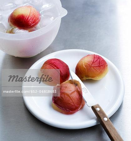 Peeling the peaches