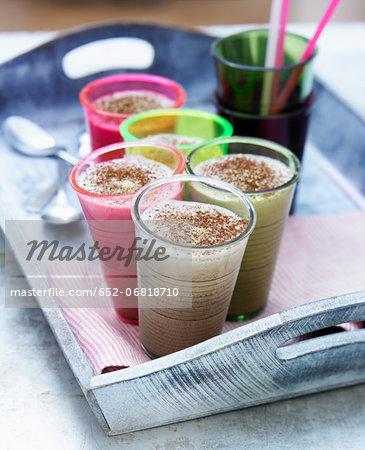 Chocolate-ginger milk shakes