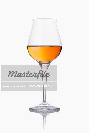 Stemmed glass of Cognac