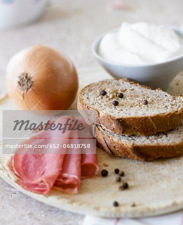Ingredients for a Alsation tart