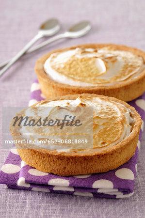 Individual lemon meringue pies
