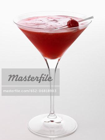 Raspberry liqueur cocktail