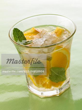 Orange Mécanique cocktail made with pear Eau-de-vie and orange