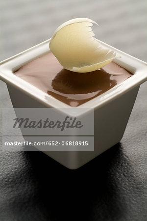 Dark chocolate cream dessert