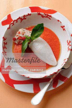 Squid and scllops in tomato puree
