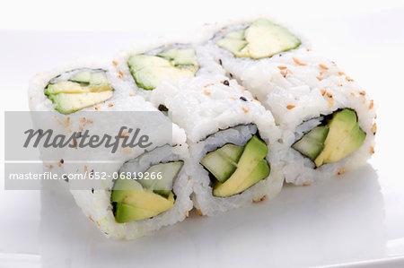 Avocado-cucumber Makis_