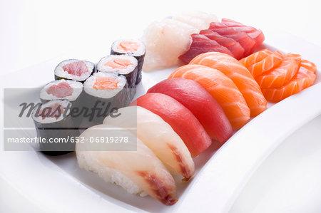 Assorted Makis, Sushis and Sashimis