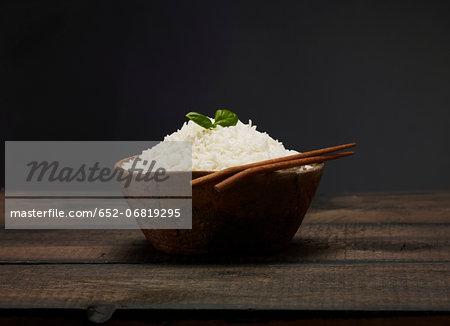 Bowl of Basmati rice