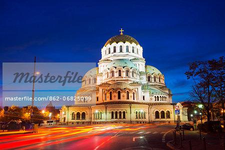 Europe, Bulgaria, Sofia, Aleksander Nevski Memorial Church