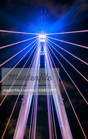 Europe, England, London, Hungerford Bridge