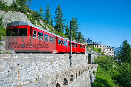 Europe, France, Haute Savoie, Rhone Alps, Chamonix Valley, Montenvers mountain railway