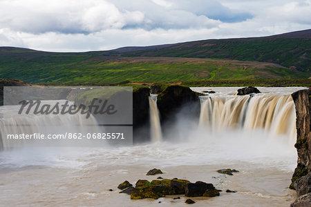 Iceland, north region, Godafoss waterfall