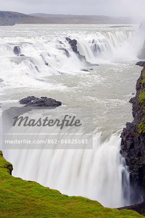 Iceland, Gullfoss waterfall on the River Hvita