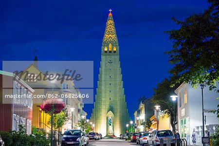 Iceland, Reykjavik, Hallgrimskikja church