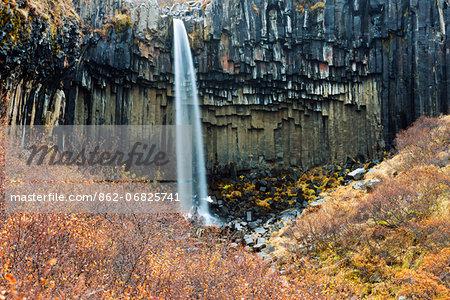 Europe, Iceland, Skaftafell National Park, Svartifoss waterfall