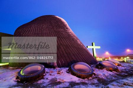 Europe, Iceland, Northern Iceland, Blonduos Church