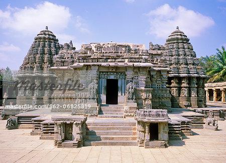 Asia, India, Southern Karnataka, Somnathpur, Kesava Temple, near Mysore.