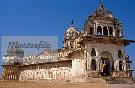 Asia, India, Madhya Pradesh, Orchha.  Lakshmi Narayan Temple.
