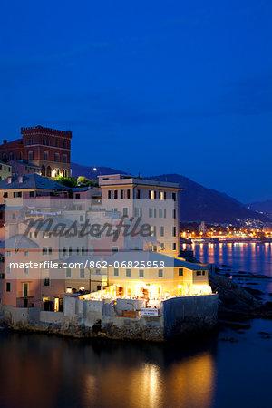 Northern Italy, Italian Riviera, Liguria, Genova. Genova's old fishing town