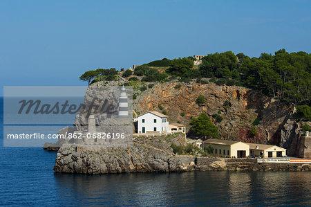 Lighthouse, Port de Soller, Majorca, Balearics, Spain