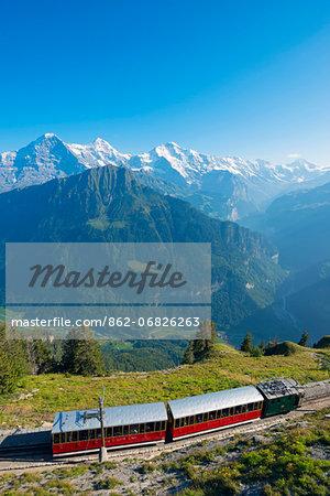 Europe, Swiss Alps, Switzerland, Bernese Oberland, Swiss Alps Jungfrau-Aletsch, Unesco World Heritage site, Schynige Platte