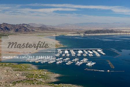 Marina near Hoover Dam, Lake Mead, Nevada, USA