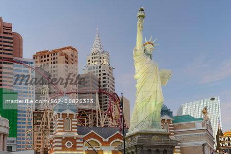 New York New York Hotel and Casino on Las Vegas Boulevard, The Strip,Las Vegas, Clark County, Nevada, USA