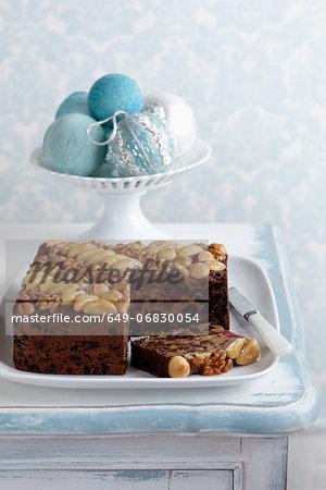 Irish Fruitcake with walnuts, macadamias and brazil nuts