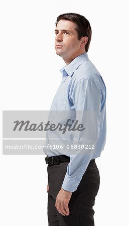 Side on portrait of business man