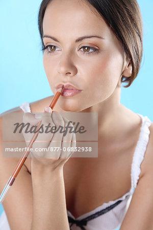 Young woman, make-up