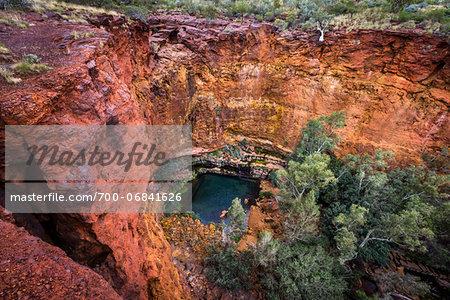 Citcular Pool, Dales Gorge, Karijini National Park, The Pilbara, Western Australia, Australia