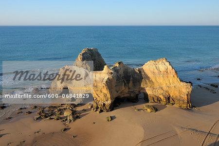 Rock Formations at Praia da Rocha, Portimao, Algarve, Portugal