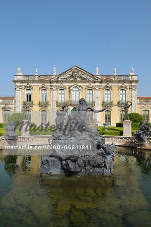 Statue of Neptune in Fountain, Palacio Nacional de Queluz, Queluz, Sintra, Lisbon, Portugal