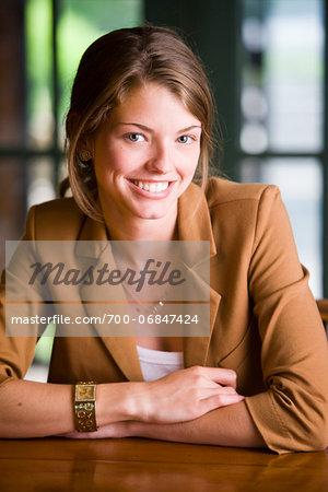 Portrait of Businesswoman, Bradford, Ontario, Canada