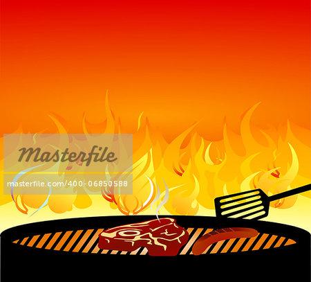 barbecue grill fire
