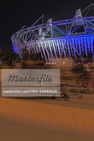 London 2012 Olympic and paralympic athletics stadium, Stratford, London UK